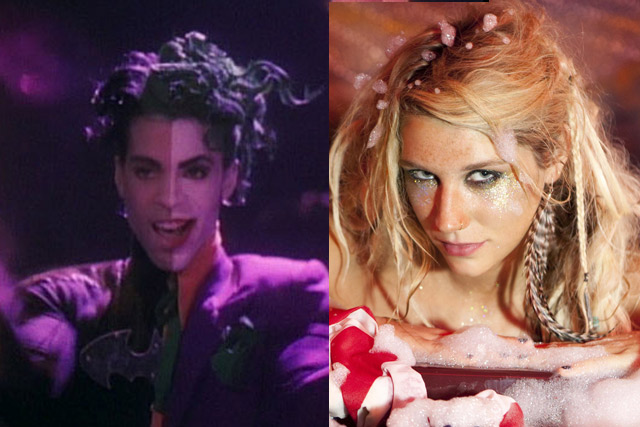 Ke$ha is the new Prince. (Literally. I think she has a nis.)