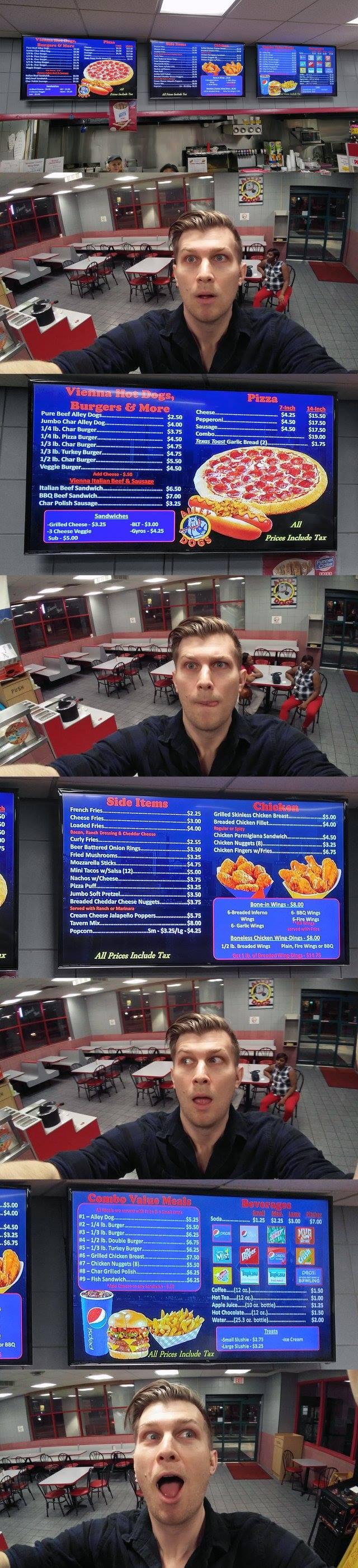 Epic Bowling Pizza Selfie
